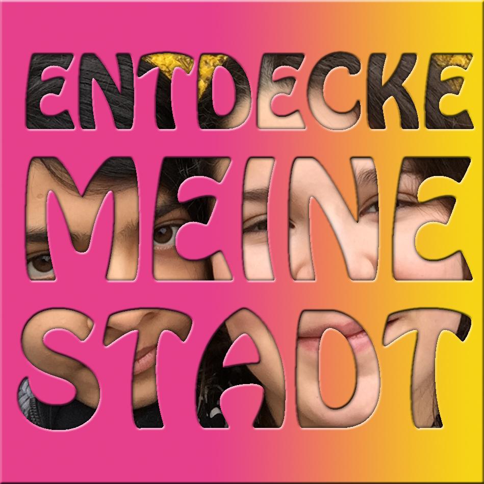 ENTDECKE MEINE STADT_SCHABLONE lila gelb
